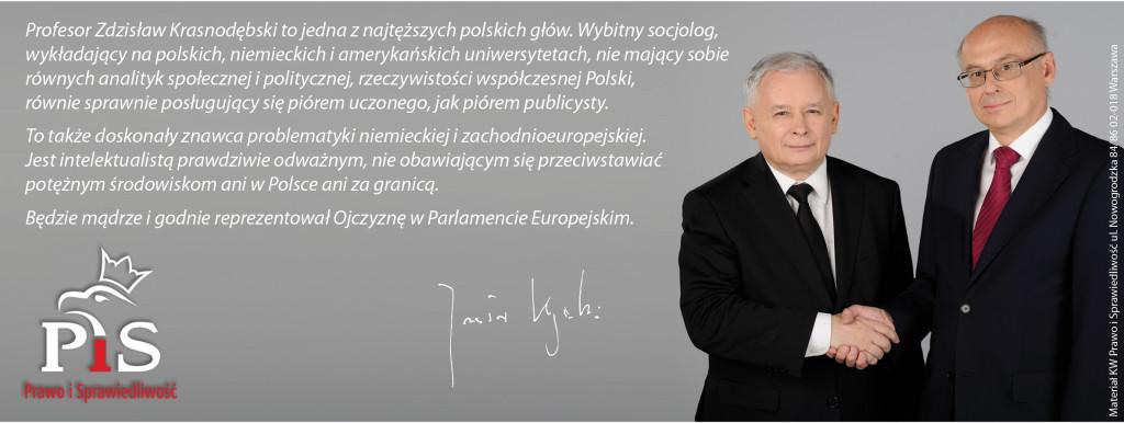 Baner poparcie j.Kaczyńskiego